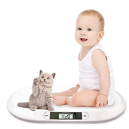 Hengda Babywaage flache Digitalwaage Stillwaage Tierwaage, geeignet für Neugeborene unter 20 kg, mit...