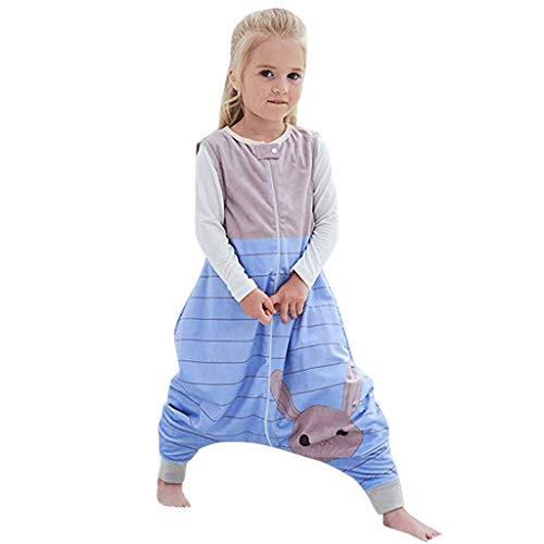 Riou Baby Winter Schlafsack mit füßen, Mädchen Junge Flanell Warm Babyschlafsack ohne Ärmel mit Beinen...