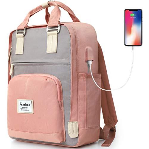 YAMTION Rucksack Damen,Schulrucksack Mädchen Teenager Daypack Laptop Rucksack Frauen für...