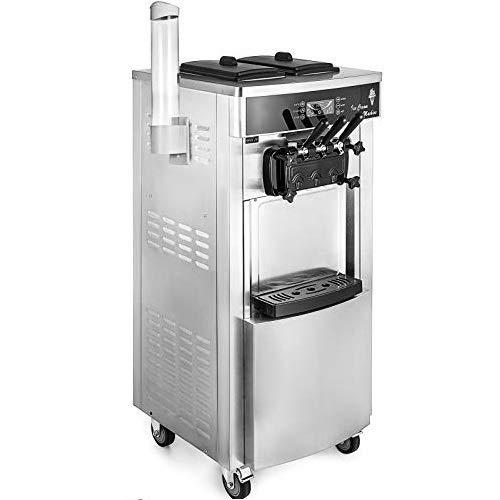 VEVOR Speiseeisbereiter Stehende Kommerzielle Softeismaschine Eismaschine Ice Cream maker 220V Edelstahl...