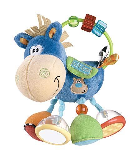Playgro - Plüsch-Rassel Clip Clop blau