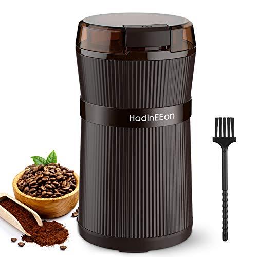 Kaffeemühle Elektrische, HadinEEon 200W Tragbare Waschbare Elektrische Kaffeebohnen und Gewürzmühle mit...
