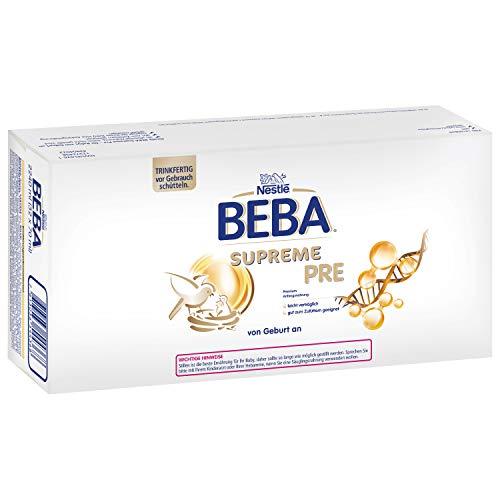 Nestlé BEBA SUPREME PRE Anfangsmilch: trinkfertige Portionsflaschen, mit Omega 3, (32 x 70 ml)
