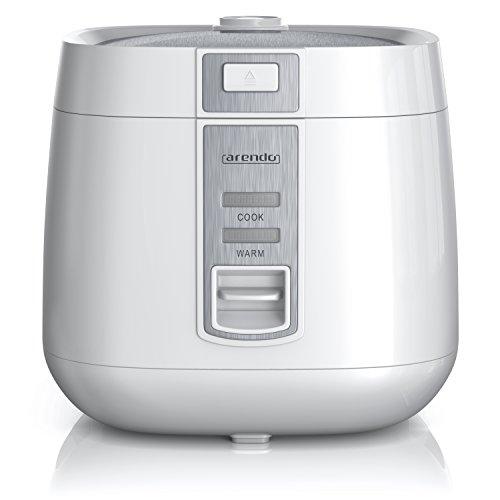 Arendo - Reiskocher - Dampfgarer Dampfgarerfunktion - 1,4l Kapazität - Überhitzungsschutz und...