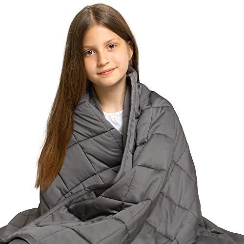 Dreamzie - Gewichtsdecke - 100 x 150 cm - Für Betten 90/100 - Außenstoff 100% Bambus - Oeko-TEX®