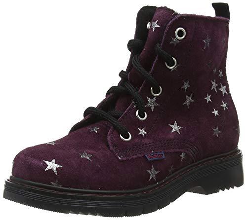 Richter Kinderschuhe Mädchen Prisma Combat Boots, Violett (BlackBerry 7500), 35 EU