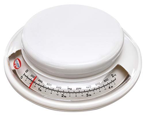 Dr. Oetker Backwaage Ø 17 cm, analoge Haushaltswaage, Waage für präzises Abwiegen, Küchenwaage mit...