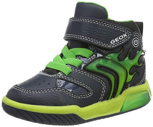 Geox Jungen J INEK Boy C Hohe Sneaker, Blau (Navy/Lime C0749), 28 EU