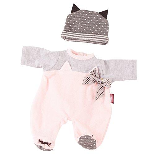 Götz 3402838 Kombination Cosy Cat - Puppenbekleidung Gr. M - 2-teiliges Bekleidungs- und Zubehörset für...