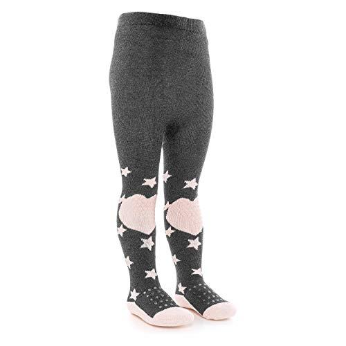 LaLoona Baby Krabbelstrumpfhose mit ABS Sohle - elastische Kinder Strumpfhose mit Anti Rutsch Noppen - Sterne...