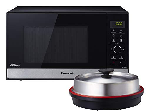 Panasonic NN-GD38HSGTG Mikrowelle mit Grill (1000 W, Dampfgarer, Steamer, Kombimikrowelle, Pizza-Pfanne, 23...