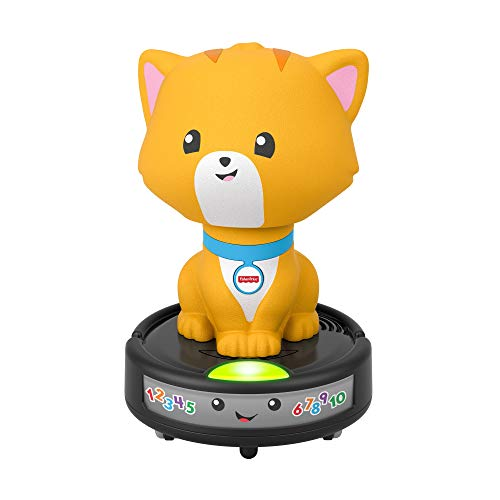 Fisher-Price GMX70 - Krabbel mir nach - Saugroboter-Katze, Spielzeug mit Musikeffekten für Babys ab 9 Monaten