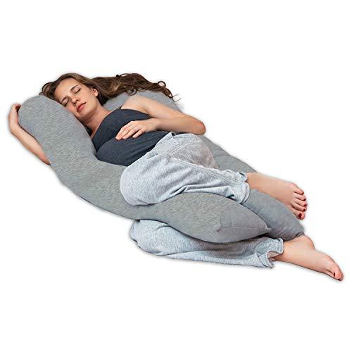 Lilly and Ben® Seitenschläferkissen aus Jersey-Baumwolle I Oeko-TEX® Schwangerschaftskissen mit...