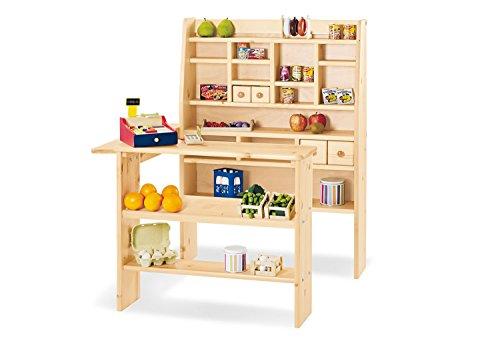 Pinolino Kaufladen Kimo, aus massivem Holz, besonders standfest, mit 4 Schubladen, für Kinder ab 2 Jahren,...