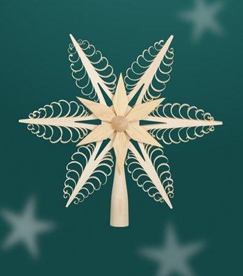 Christbaumspitze - Weihnachtsbaumspitze – Baum – Holz – Spitze – Baumspitze – Weihnachten – 24cm -...