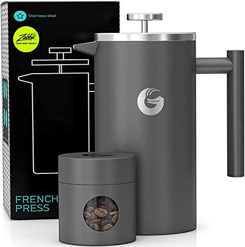 Coffee Gator French-Press-Kaffeebereiter – Heißer-für-Länger-Thermobrüher – Plus Reiseglas – Große...