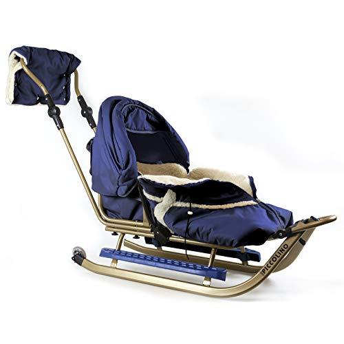 Kinderschlitten Babyschlitten Piccolino Gold Granatblau (Premium)