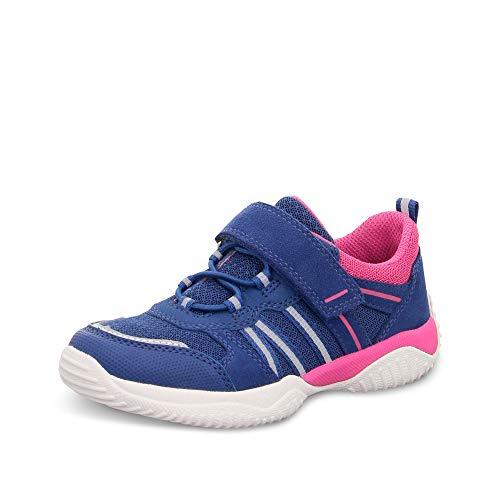 Superfit Mädchen STORM Sneaker, (Blau/Rosa 81), 37 EU