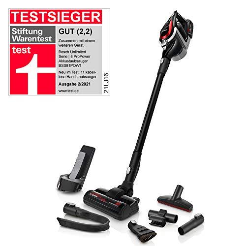 Bosch Akku-Staubsauger Unlimited ProPower Serie 8 BSS81POW1, kabelloser Handstaubsauger, beutellos,...