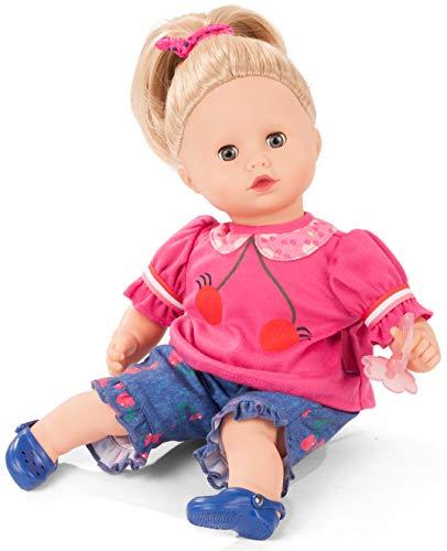 Götz 2020940 Muffin Cherry Kiss Puppe - 33 cm große Babypuppe mit blauen Schlafaugen, Blonde Haare und...