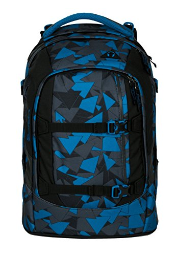 Satch Schulrucksack-Set 2-TLG Pack Blue Triangle Blau