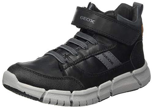Geox J FLEXYPER Boy B Backpacking Boot, Schwarz (Black/Grey), 38 EU