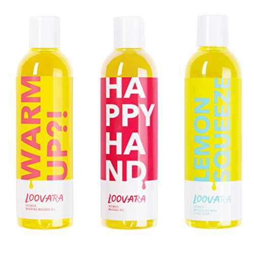 Loovara Vorteilspack Massage in Bottles, Massageöl im günstigen 3er Set – pflegendes Öl im Bundle  ...
