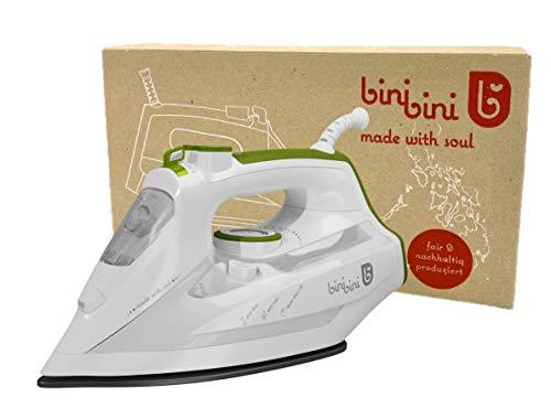 binibini Dampfbügeleisen THE GREEN STEAM IRON nachhaltig & fair (schneller bügeln mit weniger Energie- und...