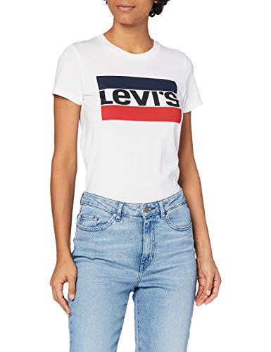 Levi's Damen The Perfect Tee T-Shirt, Sportswear Logo White, M