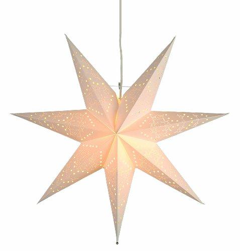 Best Season Papierstern 'Sensy Star 55' inklusive Kabel, Vierfarb-Karton, crème 231-19