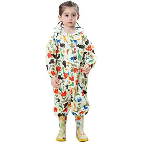 Zilee Kinder Regenanzug Wasserdicht Regen-Overall Regenmantel Jungen Mädchen Regenkleidung Regenjacke...