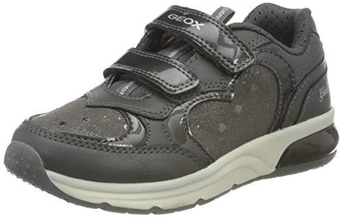 Geox J SPACECLUB Girl C Sneaker, Dk Grey, 29 EU