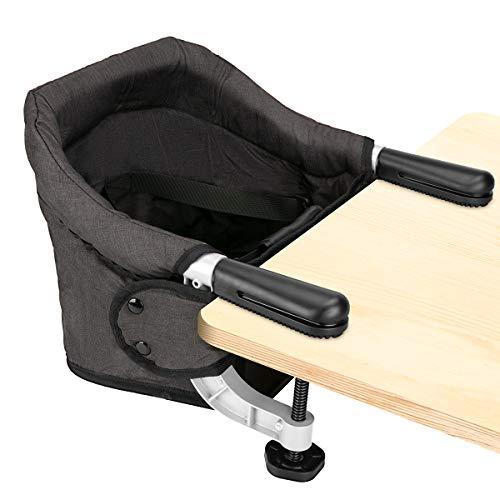 Tischsitz Faltbar Baby Hochstuhl Sitzerhöhung Stuhlsitz mit Transportbeutel, Ideal für zu Hause und...