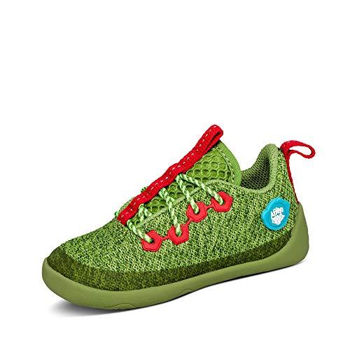 Affenzahn Barfußschuh Knit Schnürer - Kinderschuh für Jungen und Mädchen - Drache - Grün - 21