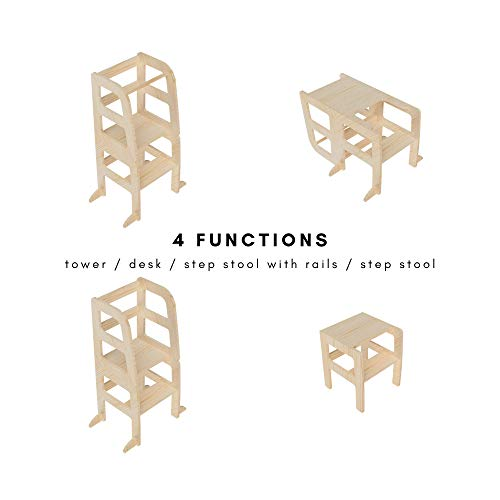Atvi Kids, Learningtower - 4 Funktionen - Lernturm - Entdeckungsturm - Küchenhilfe (Natur)