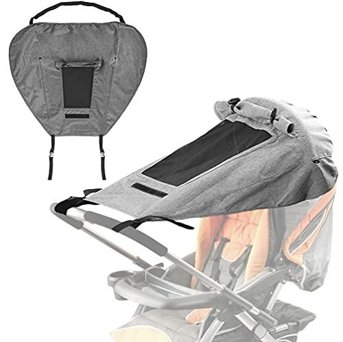 Sonnensegel Kinderwagen, Universal Verstellbar Sonnensegel für Kinderwagen mit UV Schutz 50+, Sonnenschutz...