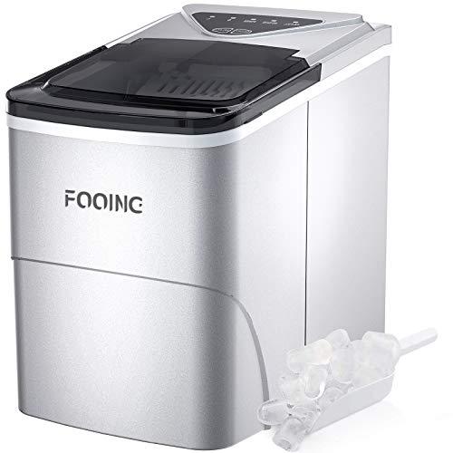Eiswürfelmaschine FOOING Ice Maker Cube Maschine Bereit in 6 Minuten 2L Eisbereiter mit...