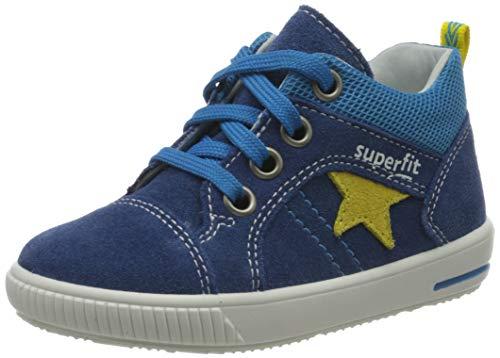 Superfit Baby Jungen MOPPY Sneaker, Blau (Blau/Gelb 80), 24 EU