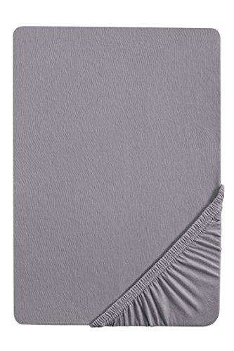 biberna 0077144 Spannbetttuch Feinjersey (Matratzenhöhe max. 22 cm), gekämmte Baumwolle, superweich 1x...