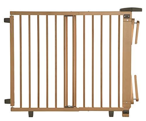 Geuther Treppenschutzgitter für Baby, Kinder und Hund, Absperrgitter für Treppe in Holz, natur, 67 - 107 cm,...