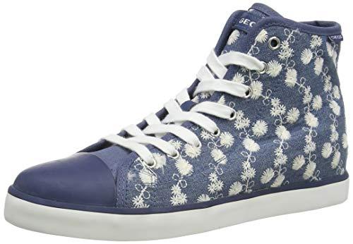 Geox Mädchen JR CIAK Girl B Hohe Sneaker, Blau (Avio C4005), 33 EU