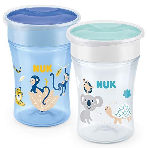 NUK Magic Cup Trinklernbecher | auslaufsicherer 360°-Trinkrand | 8+Monate | BPA-frei | 230ml | Affe &...