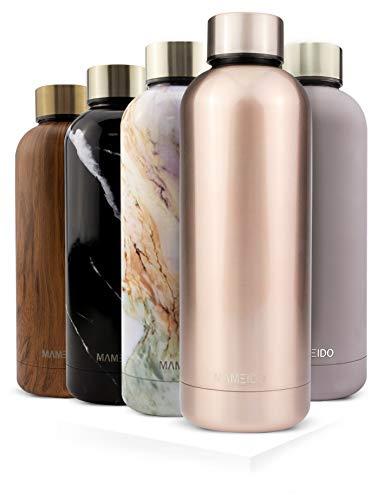 MAMEIDO Trinkflasche Edelstahl - Rosegold - 750ml, 0,75l Thermosflasche - auslaufsicher, BPA frei - schlanke...