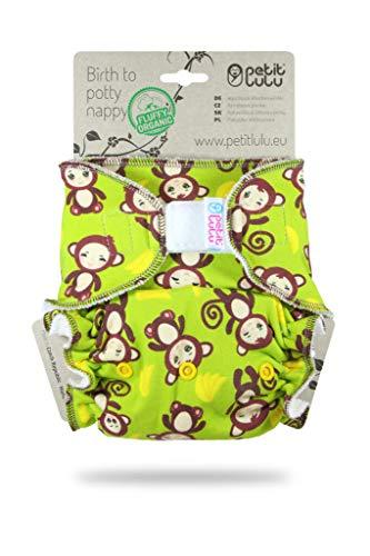 Petit Lulu Maxi NachtWindel | Höschenwindel (7-16 kg) Klett | Fluffy Organic | Bambus natürliche...