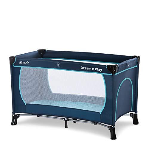 Hauck Kinderreisebett Dream N Play Plus, inkl. Hauck Reisebettmatratze, tragbar und klappbar, 120 x 60 cm,...