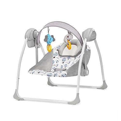 Kinderkraft Babywippe FLO 2 in 1, Babyschaukel, Wippe, Schaukelwippe mit Vibration, Spielbogen, Spielzeuge,...