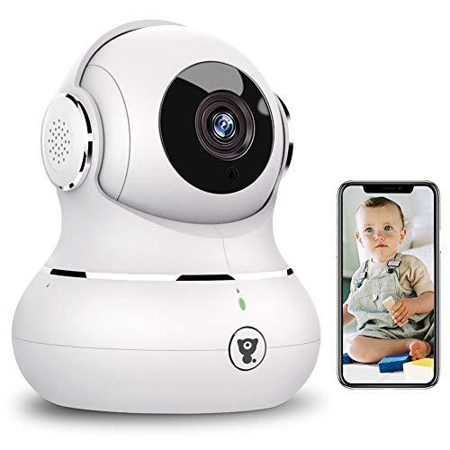 WLAN IP Kamera, Littlelf Überwachungskamera WiFi Hundekamera mit 360° Schwenkbar, 1080P Babyphone mit...
