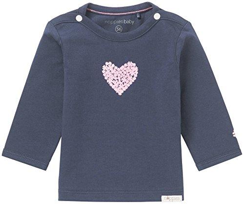 Noppies Baby-Mädchen G Tee ls Natick Langarmshirt, Blau (Navy C166), 50