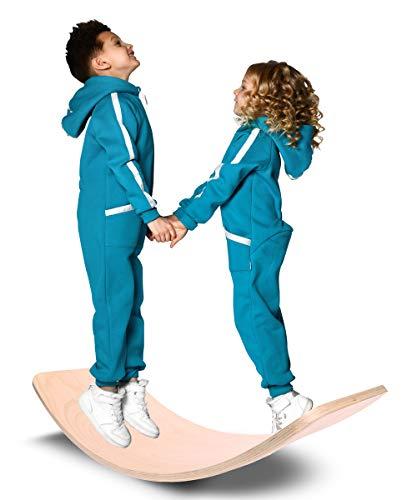 AAIK Balance Board Kinder, Curved Swing Schaukelbrett nachhaltigem Buchen Holz
