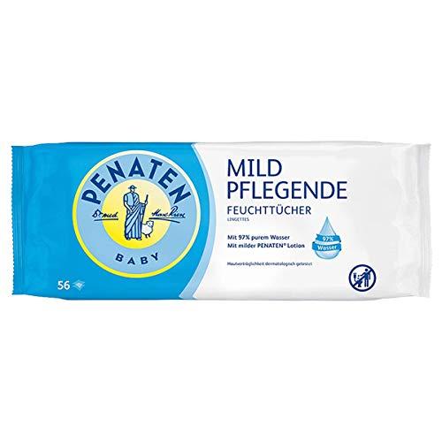 Penaten Mild Pflegende Feuchttücher, extra weiche Tücher für Babys mit 97% purem Wasser, angenehmen Duft...
